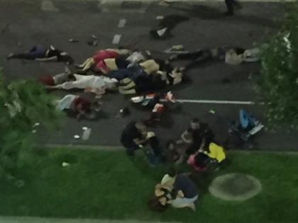 VIDEO: Hiện trường đẫm máu vụ khủng bố ở Nice đúng ngày Quốc khánh Pháp