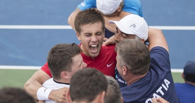 Ngược dòng ngoạn mục, Croatia giành quyền vào bán kết Davis Cup