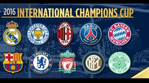 Lịch thi đấu và trực tiếp International Champions Cup 2016