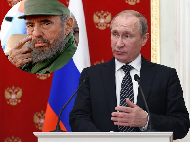 Tổng thống Putin: Nước Nga dành sự kính trọng sâu sắc tới lãnh tụ Fidel Castro