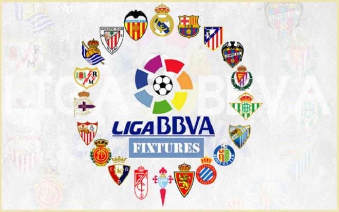Lịch thi đấu trực tiếp vòng 3 La Liga mùa giải 2016-17