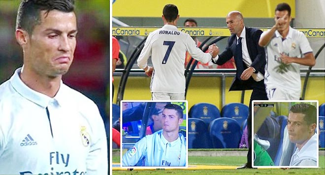 Mẹ Ronaldo phải an ủi con trai vì bị thay ra. Fan Real Madrid sốc