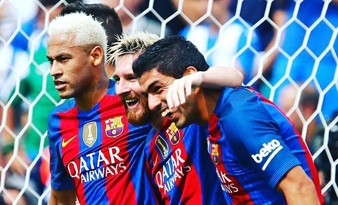 Barcelona đang 'đốt' bao nhiêu tiền vì Messi, Suarez và Neymar?