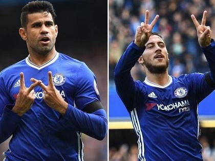 CẢM ĐỘNG: Diego Costa và Eden Hazard ghi bàn, tưởng nhớ người mẹ quá cố của Willian