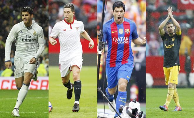 KỊCH TÍNH: Atletico, Barcelona, Sevilla và Real thay nhau dẫn đầu La Liga trong vòng… 1 ngày
