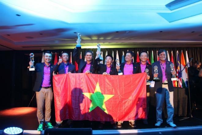 Đoàn Việt Nam đứng thứ 2 thế giới tại giải golf quốc tế