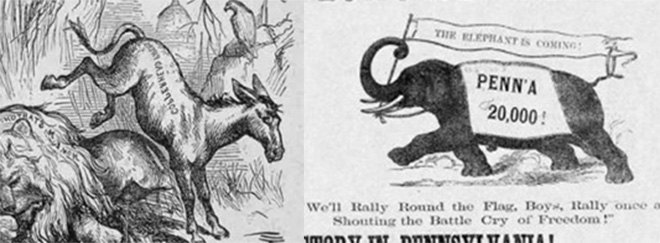 Bầu cử tổng thống Mỹ: Sốc với con lừa đảng Dân chủ, con voi đảng Cộng hòa