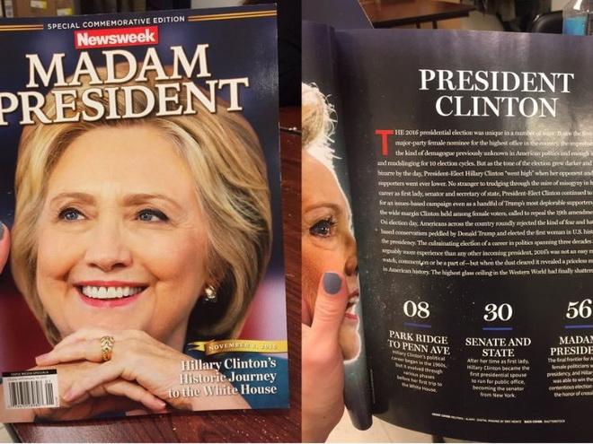Gọi bà Clinton là 'Bà Tổng thống' trên trang Nhất: Sai lầm lịch sử của 'Newsweek'