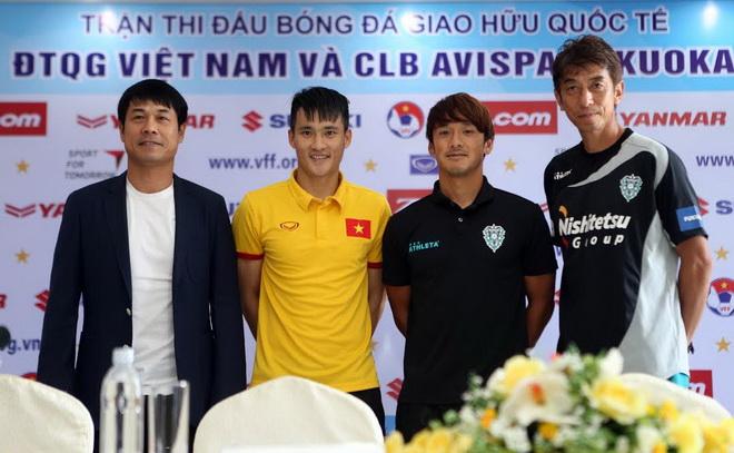 HLV Hữu Thắng mong tuyển Việt Nam thắng Avispa Fukouka để lấy may