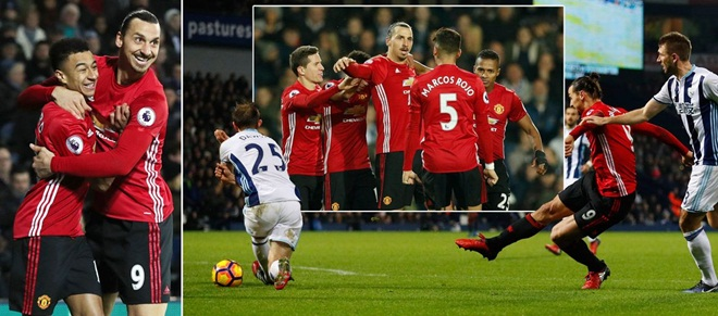ĐIỂM NHẤN West Brom 0-2 Man United: Đẳng cấp Ibrahimovic & phong cách Mourinho