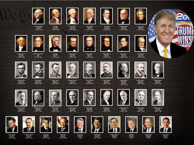 'Soi' phiếu bầu của ông Trump trong 'bảng tổng sắp' 45 đời tổng thống Mỹ