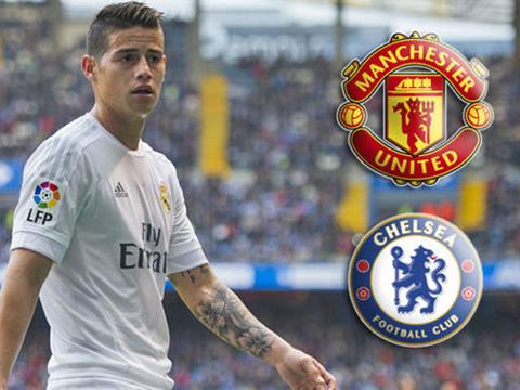 James Rodriguez làm visa tới Anh, Chelsea hay Man United vui mừng?
