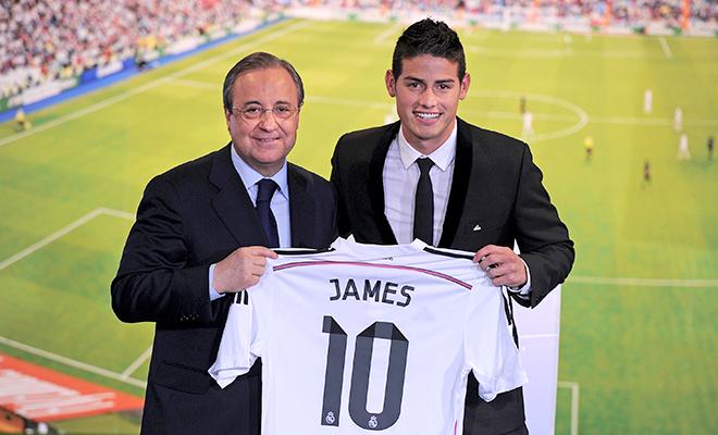 Thất bại của James Rodriguez khiến giấc mơ của Florentino Perez tan vỡ