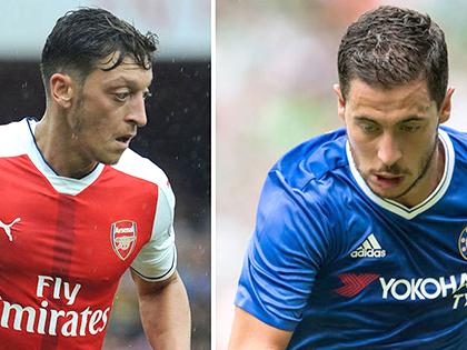Oezil còn lâu mới bằng Hazard trong những trận cầu lớn