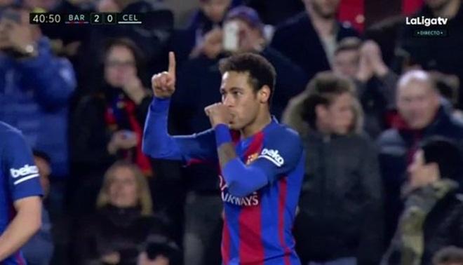 Neymar ghi bàn cực đẳng cấp vào lưới Celta Vigo, cộng đồng mạng 'lên đồng'