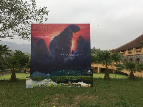 Hình ảnh 'Kong' xuất hiện tại nơi đoàn phim 'Kong: Skull Island' nghỉ ở Ninh Bình