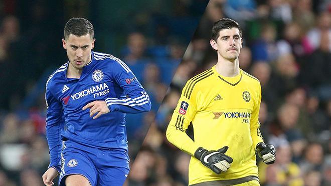 Chelsea khó giữ chân Hazard và Courtois trước sức hút từ Real Madrid