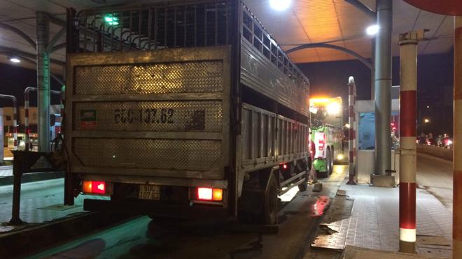 Tài xế xe tải cố tình tông chết một chiến sĩ công an giao thông