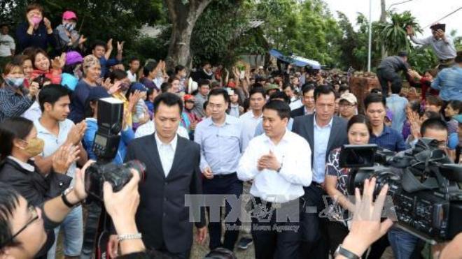 Chủ tịch Hà Nội Nguyến Đức Chung: 'không ai đánh người chạy lại'