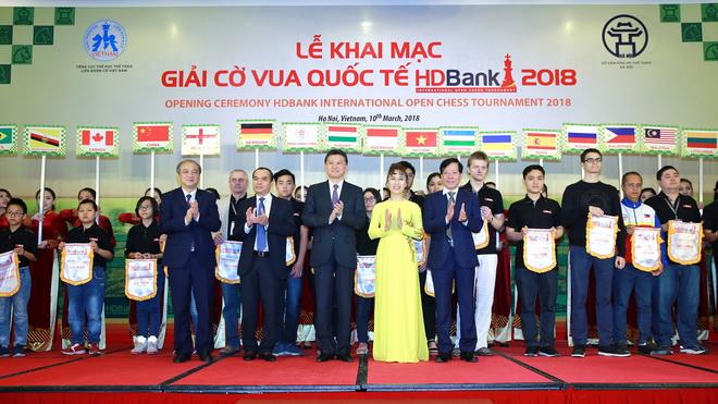 Giải Cờ vua Quốc tế HDBank 2018 chính thức khai mạc