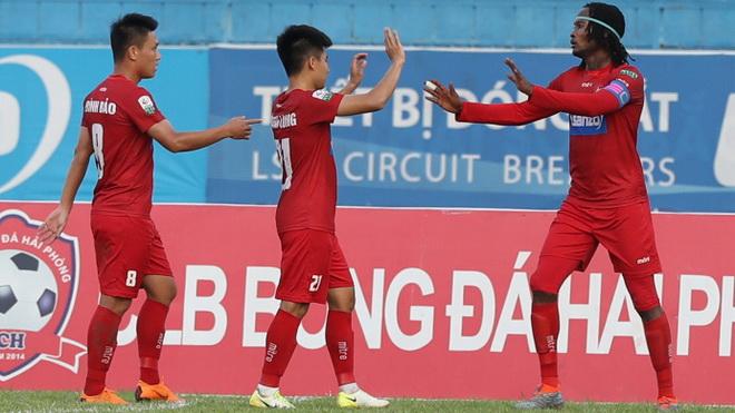 Thoát thua Sài Gòn FC, Hải Phòng vẫn duy trì mục tiêu TOP 5