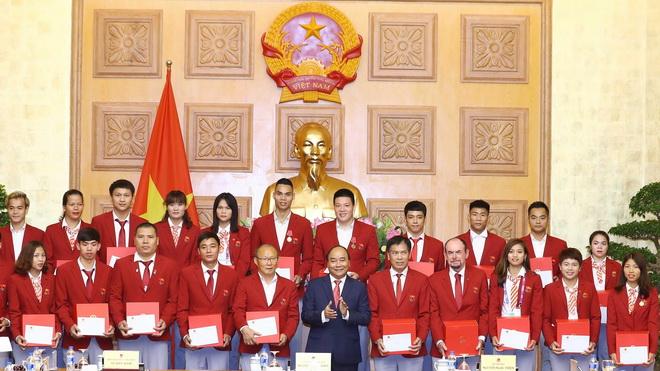 Thủ tướng Nguyễn Xuân Phúc gặp mặt Đoàn Thể thao Việt Nam dự ASIAD