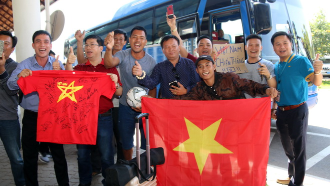 Tuyển Việt Nam đến Lào, tự tin chinh phục AFF Cup