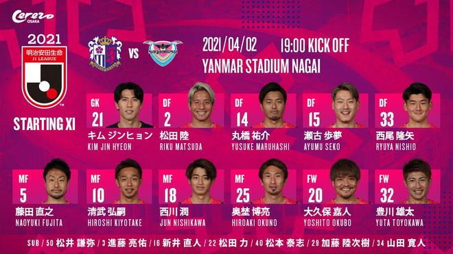 Văn Lâm lên đường, Cerezo Osaka thăng tiến tại J-League 1