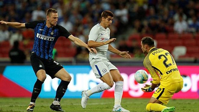 Fan sốc khi Morata bị xếp dạt cánh trong trận Chelsea thua Inter