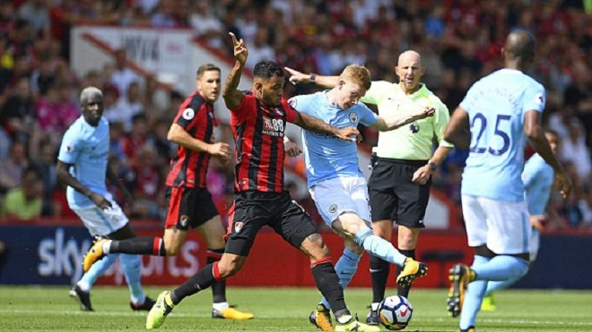 Bournemouth 1-2 Man City: Sterling hóa người hùng, Man City giành 3 điểm ở giây cuối cùng