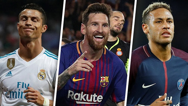 Ronaldo, Messi, Neymar lần thứ ba liên tiếp cạnh tranh Cầu thủ hay nhất FIFA