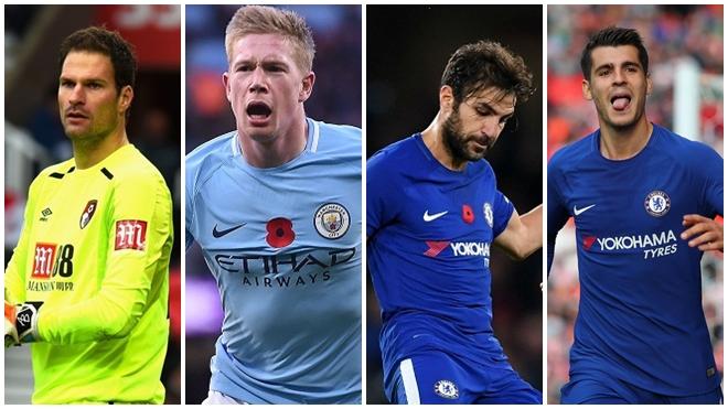 Morata, Fabregas, De Bruyne... dẫn đầu đội hình tiêu biểu vòng 11 Premier League