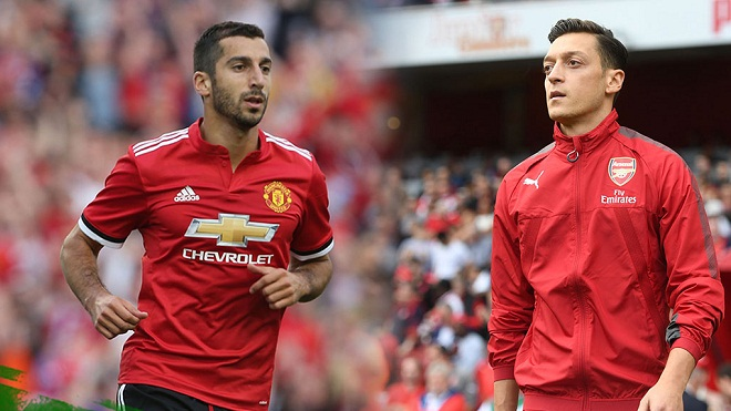 Mkhitaryan sắp phải 'hy sinh' để Mourinho mở đường cho Mesut Oezil tới M.U