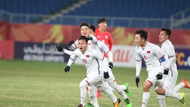 Nổ tung với siêu phẩm của Quang Hải ghi bàn đẳng cấp gỡ hòa cho U23 Việt Nam