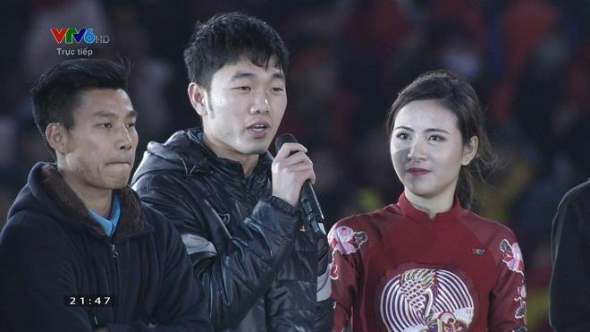 Xuân Trường với bài phát biểu xúc động tại Gala vinh danh U23 Việt Nam