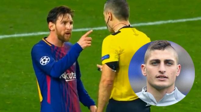 Verratti: 'Messi sẽ không bị đuổi nếu phản ứng với trọng tài như tôi'