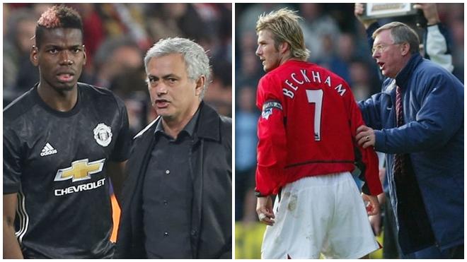 Vấn đề giữa Pogba với Mourinho giống hệt Sir Alex với Beckham năm nào