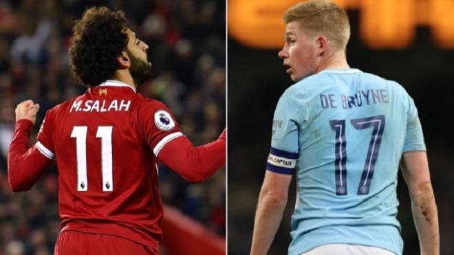 Trận Liverpool – Man City sẽ quyết định cuộc đua cá nhân giữa Salah và De Bruyne
