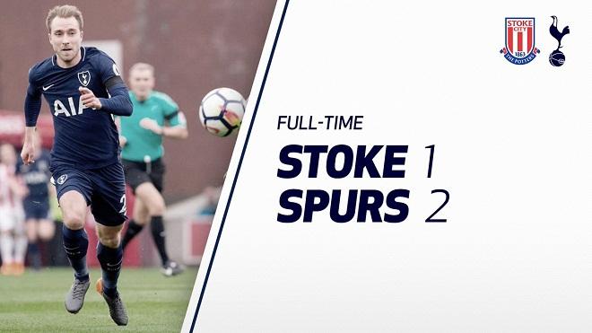 Video bàn thắng trận Stoke City 1-2 Tottenham: Eriksen rực sáng ngày Kane im lặng