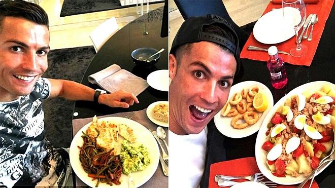 Chiêm ngưỡng những bữa ăn kiêng cực khủng của Cristiano Ronaldo