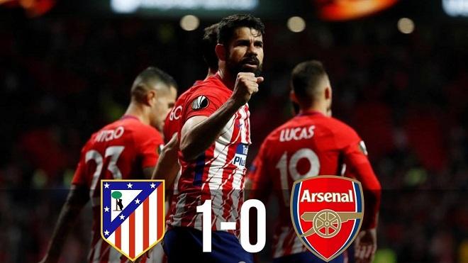 Atletico Madrid 1-0 Arsenal: Diego Costa chấm dứt hy vọng của thày trò Wenger