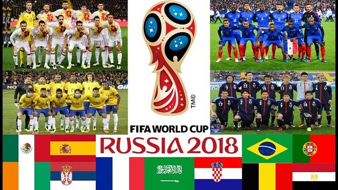 Chốt danh sách chính thức của 32 đội dự VCK World Cup 2018