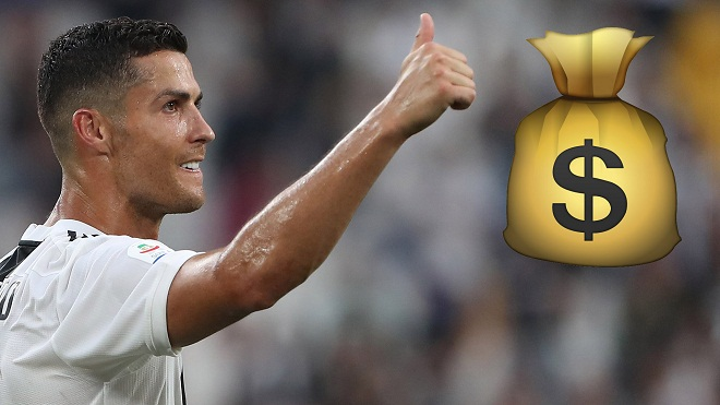 Ronaldo nhận lương cao nhất Serie A, nhiều gấp 3 lần người đứng thứ hai