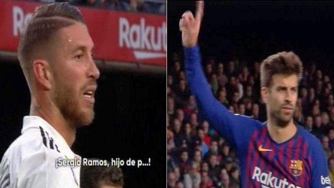 Pique được khen ngợi với hành động bảo vệ Sergio Ramos
