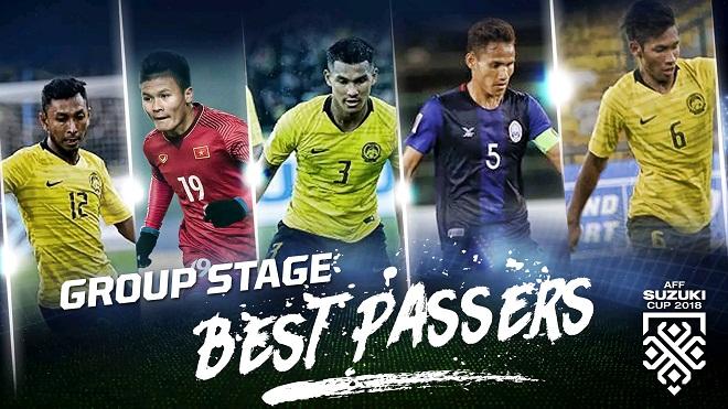 Quang Hải xếp thứ 2 trong Top 5 chân chuyền hay nhất vòng bảng AFF Cup 2018