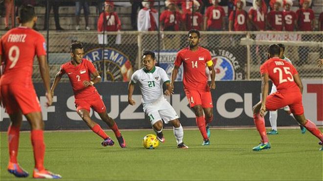 Singapore 1- 0 Indonesia: Harris Harun giúp Singapore đứng nhì bảng B