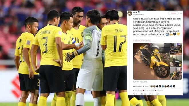 CĐV Malaysia rao bán giày, bán xe để dành tiền sang Việt Nam xem chung kết