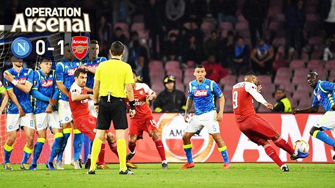 VIDEO Napoli 0-1 Arsenal (0-3): Lacazette ghi bàn, 'Pháo thủ' vào bán kết Europa League