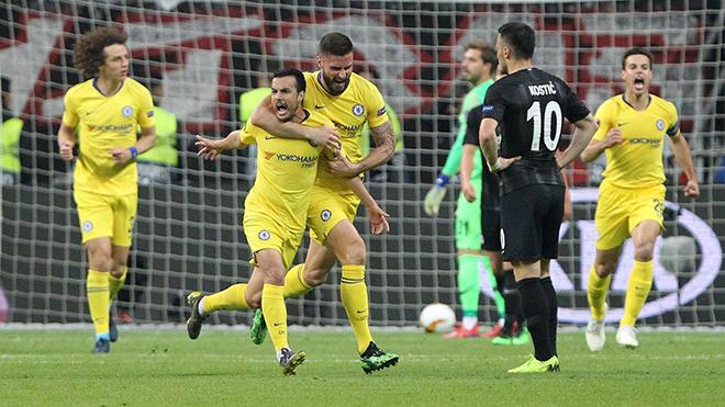 Frankfurt 1-1 Chelsea: Pedro lập công, Chelsea có lợi thế lớn cho trận lượt về