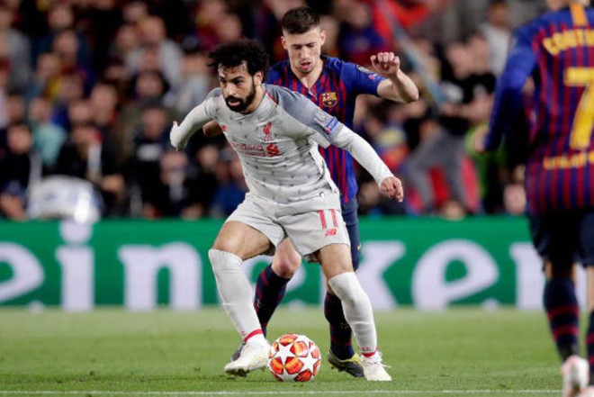 Barca vs Liverpool, Barcelona 3-0 Liverpool, Lenglet vs Salah, Messi, Barcelona, Liverpool, bán kết cúp C1, Champions League, Salah, khóa chân Salah